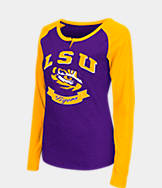 Women's Stadium LSU Tigers College Long-Sleeve Healy Raglan T-Shirt