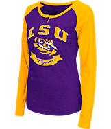 Women's Stadium LSU Tigers College Long-Sleeve Healy Raglan T-Shirt