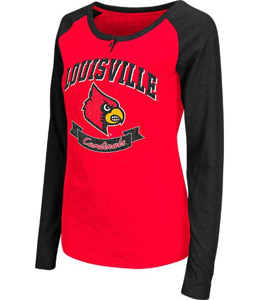 Women's Stadium Louisville Cardinals College Long-Sleeve Healy Raglan T-Shirt