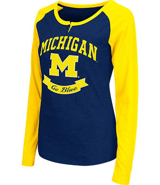 Women's Stadium Michigan Wolverines College Long-Sleeve Healy Raglan T-Shirt