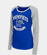 Women's Stadium Memphis Tigers College Long-Sleeve Healy Raglan T-Shirt