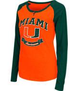 Women's Stadium Miami Hurricanes College Long-Sleeve Healy Raglan T-Shirt