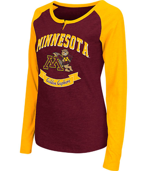 Women's Stadium Minnesota Golden Gophers College Long-Sleeve Healy Raglan T-Shirt