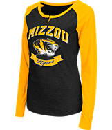 Women's Stadium Missouri Tigers College Long-Sleeve Healy Raglan T-Shirt