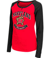 Women's Stadium Maryland Terrapins College Long-Sleeve Healy Raglan T-Shirt