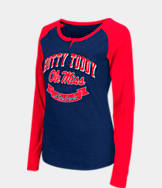Women's Stadium Mississippi Rebels College Long-Sleeve Healy Raglan T-Shirt