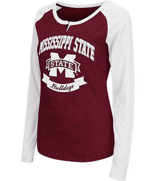 Women's Stadium Mississippi State Bulldogs College Long-Sleeve Healy Raglan T-Shirt