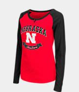 Women's Stadium Nebraska Cornhuskers College Long-Sleeve Healy Raglan T-Shirt