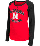 Women's Stadium Nebraska Cornhuskers College Long-Sleeve Healy Raglan T-Shirt