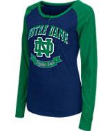 Women's Stadium Notre Dame Fighting Irish College Long-Sleeve Healy Raglan T-Shirt
