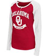 Women's Stadium Oklahoma Sooners College Long-Sleeve Healy Raglan T-Shirt