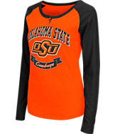 Women's Stadium Oklahoma State Cowboys College Long-Sleeve Healy Raglan T-Shirt