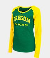 Women's Stadium Oregon Ducks College Long-Sleeve Healy Raglan T-Shirt