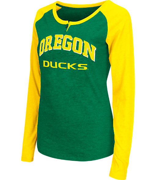 Women's Stadium Oregon Ducks College Long-Sleeve Healy Raglan T-Shirt