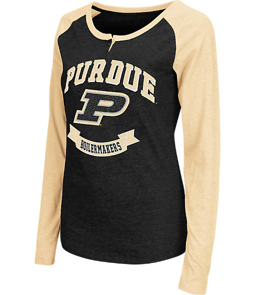 Women's Stadium Purdue Boilermakers College Long-Sleeve Healy Raglan T-Shirt