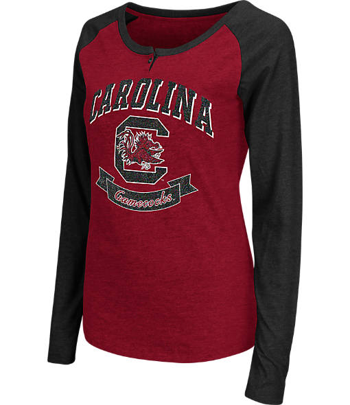Women's Stadium South Carolina Gamecocks College Long-Sleeve Healy Raglan T-Shirt