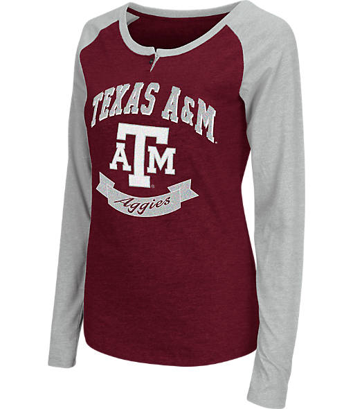 Women's Stadium Texas A&M Aggies College Long-Sleeve Healy Raglan T-Shirt