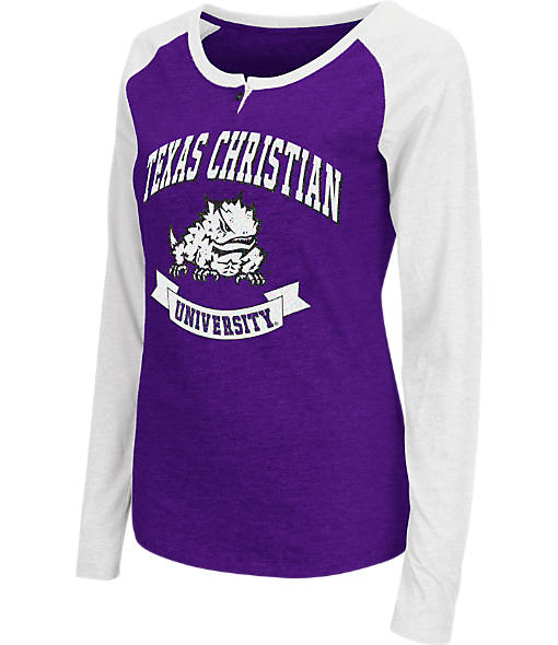 Women's Stadium TCU Horned Frogs College Long-Sleeve Healy Raglan T-Shirt