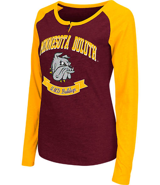 Women's Stadium Minnesota Duluth Bulldogs College Long-Sleeve Healy Raglan T-Shirt