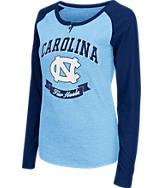 Women's Stadium North Carolina Tar Heels College Long-Sleeve Healy Raglan T-Shirt