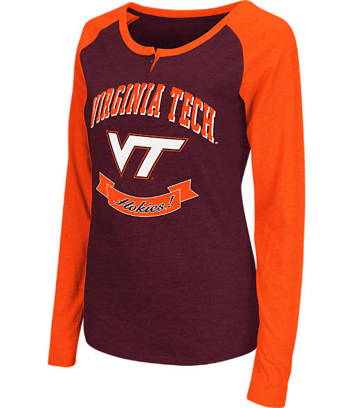 Women's Stadium Virginia Tech Hokies College Long-Sleeve Healy Raglan T-Shirt
