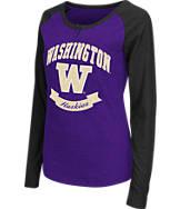 Women's Stadium Washington Huskies College Long-Sleeve Healy Raglan T-Shirt