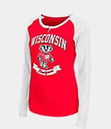 Women's Stadium Wisconsin Badgers College Long-Sleeve Healy Raglan T-Shirt