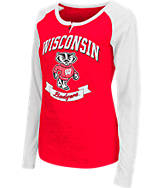 Women's Stadium Wisconsin Badgers College Long-Sleeve Healy Raglan T-Shirt