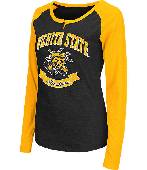 Women's Stadium Wichita State Shockers College Long-Sleeve Healy Raglan T-Shirt