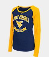 Women's Stadium West Virginia Mountaineers College Long-Sleeve Healy Raglan T-Shirt