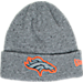 Front view of New Era Denver Broncos NFL Heathered Spec Knit Hat in Team Colors