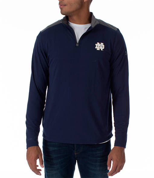 Men's Under Armour Notre Dame Fighting Irish College Charged Cotton Quarter-Zip Jacket