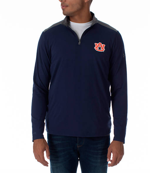 Men's Under Armour Auburn Tigers College Charged Cotton Quarter-Zip Jacket