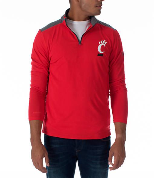 Men's Under Armour Cincinnati Bearcats College Charged Cotton Quarter-Zip Jacket