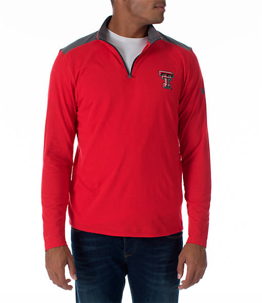 Men's Under Armour Texas Tech Red Raiders College Charged Cotton Quarter-Zip Jacket