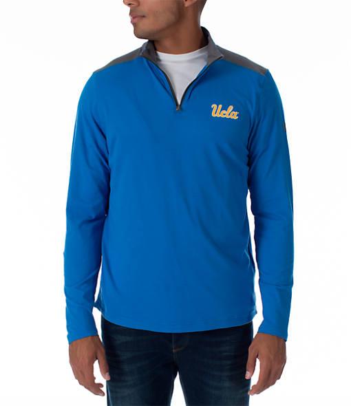 Men's Under Armour UCLA Bruins College Charged Cotton Quarter-Zip Jacket