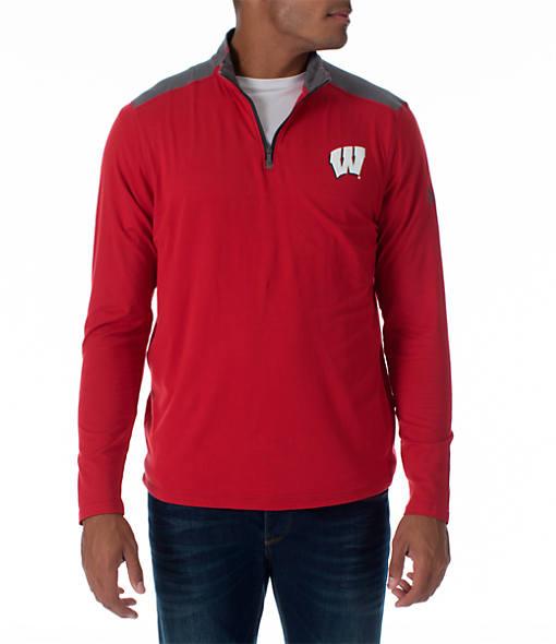 Men's Under Armour Wisconsin Badgers College Charged Cotton Quarter-Zip Jacket