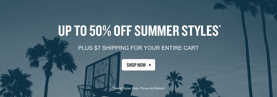 Up To 50% Off Summer Styles. Shop Now.