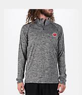 Men's Under Armour Wisconsin Badgers College Tech Quarter-Zip Poly Shirt