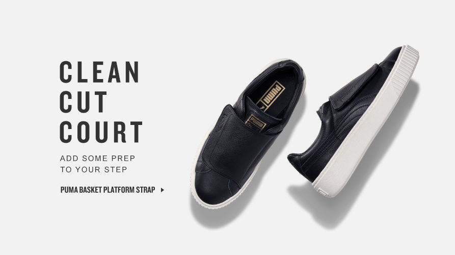 Puma Basket Platform Strap. Shop Now.
