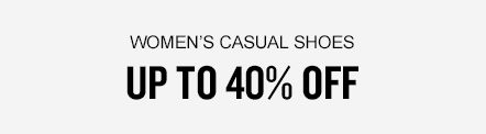 Women's Casual Shoes Up to 40% Off
