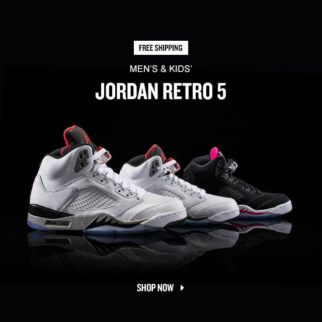 Jordan Retro 5. Shop Now.