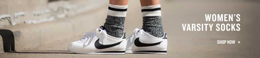 Women's Varsity Socks. Shop Now.