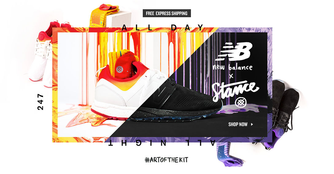 New Balance x Stance. Shop Now.