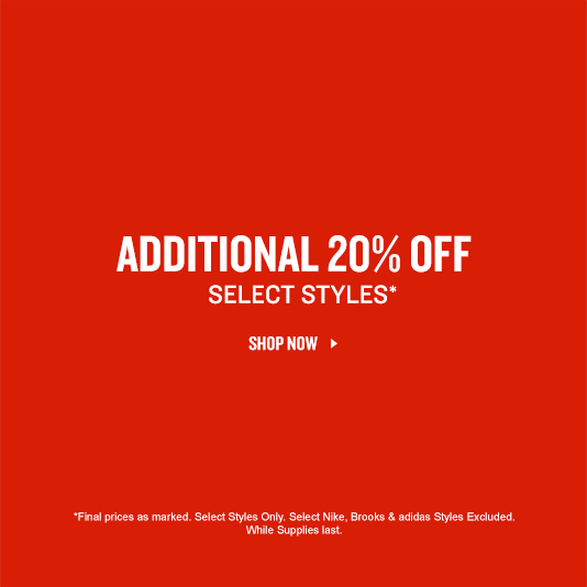 Shop 20% off select styles