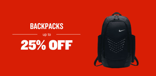 Backpacks Up To 25% Off