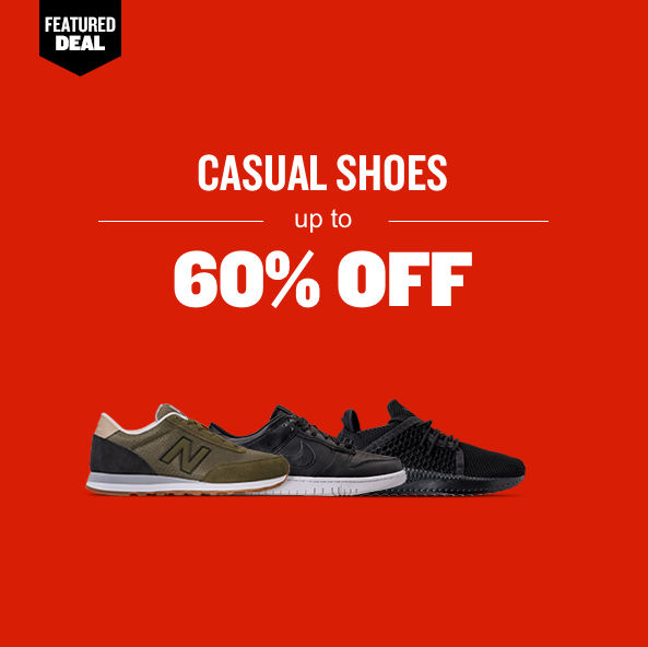 Casual Shoes up to 60% off. Shop Now.