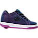 Right view of Girls' Grade School Heelys Split Wheeled Skate Shoes in Purple/Aqua Colorshift