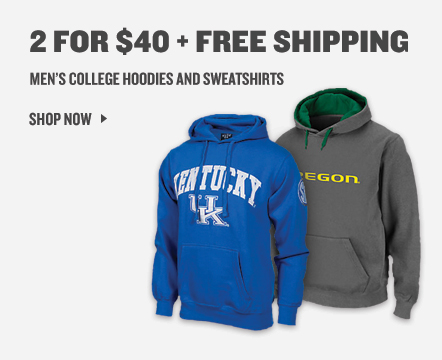 College Hoodies and Sweatshirts 2 for $40 + Free Shipping.