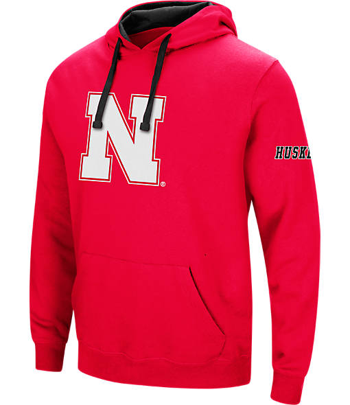 Men's Stadium Nebraska Cornhuskers College Big Logo Hoodie